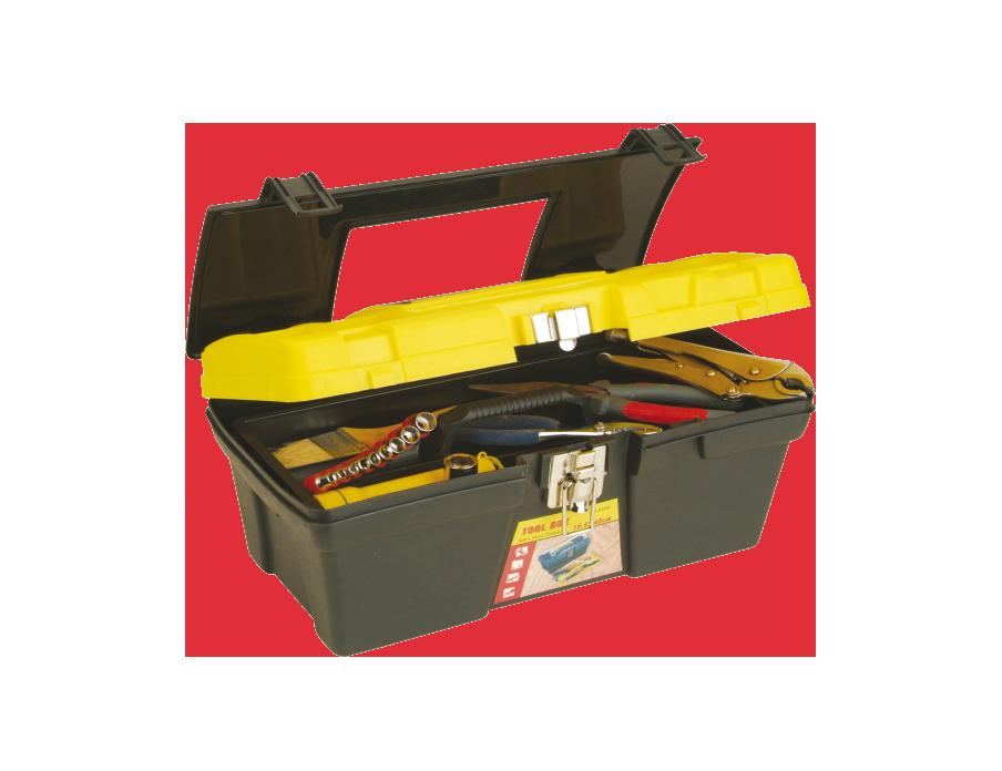 Caja plástica 16″ Broche Metálico